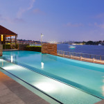 Cutters Landing pool overlooking the river